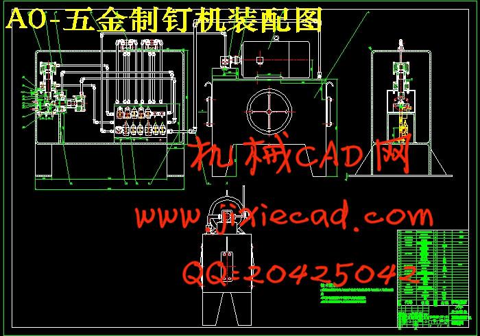 单活塞杆液压缸图纸_五金制钉机液压系统设计【说明书+CAD】_机械CAD网-机械工程论文 ...